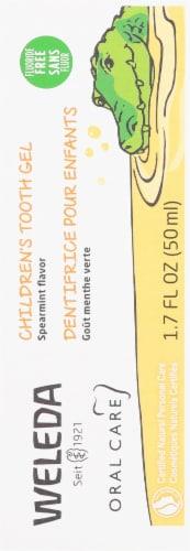 Weleda Spearmint Flavor Children's Tooth Gel Perspective: back