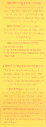 Weleda Baby Calendula Nourishing Face Cream Perspective: back