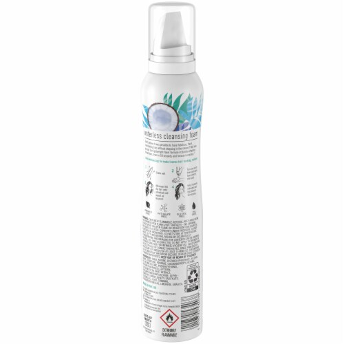 Batiste No Rinse Shampoo Waterless Coconut Milk Cleansing Foam Perspective: back