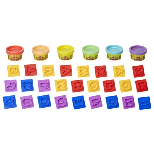 Play-Doh Fundamentals Letters Modeling Compound Playset Perspective: back
