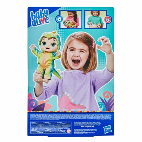 Hasbro Baby Alive Dino Cuties Doll -Brown Hair Perspective: back