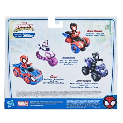 Hasbro Marvel Spidey and His Amazing Friends Miles Morales Techno-Racer Perspective: back