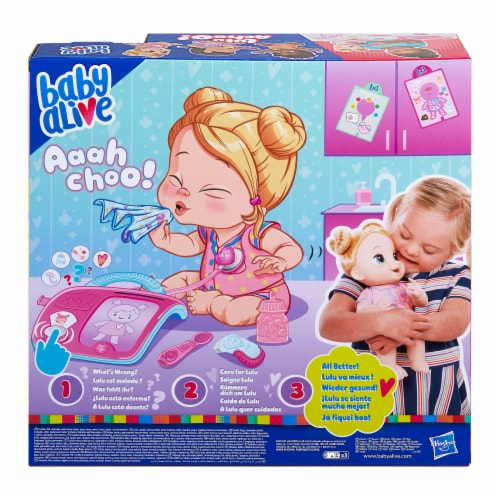 Hasbro Baby Alive Lulu Achoo Blonde Doll Perspective: back