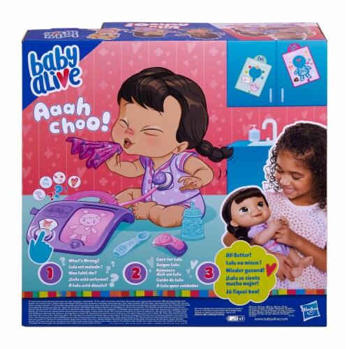 Hasbro Baby Alive Lulu Achoo Brunette Doll Perspective: back