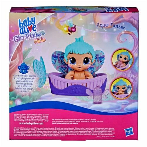 Hasbro Baby Alive Aqua Flutter GloPixies Doll Perspective: back