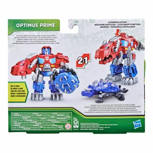 Hasbro Transformers Dinobot Adventures Optimus Prime Figures Perspective: back