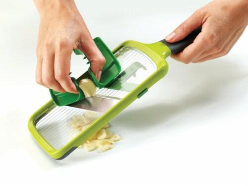 Joseph Joseph Multi-Grip Mandoline Slicer - Green Perspective: back