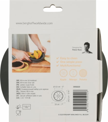 BergHOFF Leo Stainless Steel All-in-One Slicer Set - 4 Piece Perspective: back