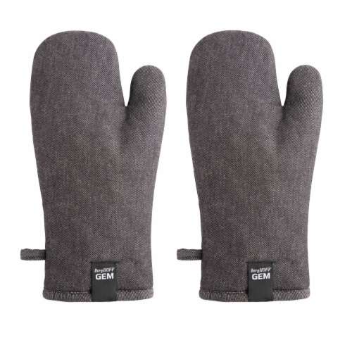 BergHOFF Gem Oven Glove Set - Black Denim Perspective: back