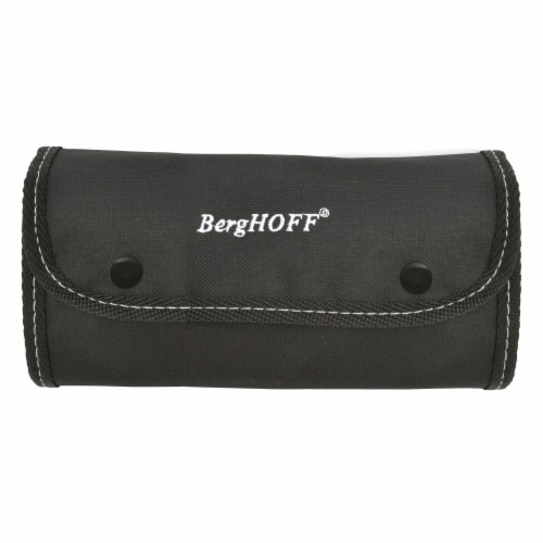 BergHOFF Essentials Stainless Steel Garnishing Tool Set & Case - Black/Silver Perspective: back