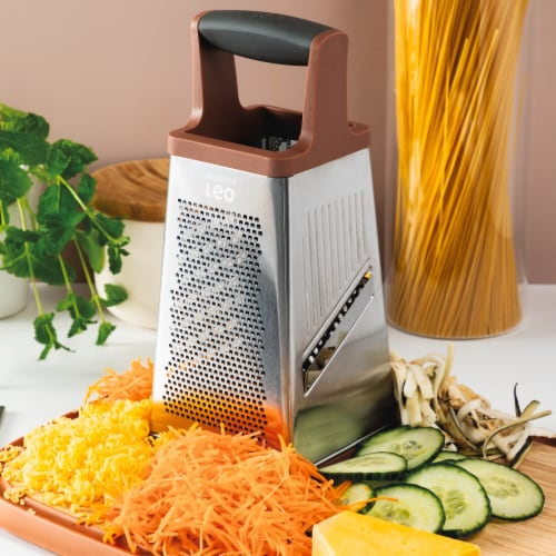 BergHOFF 4-Sided Box Grater - Pink/Gray Perspective: back