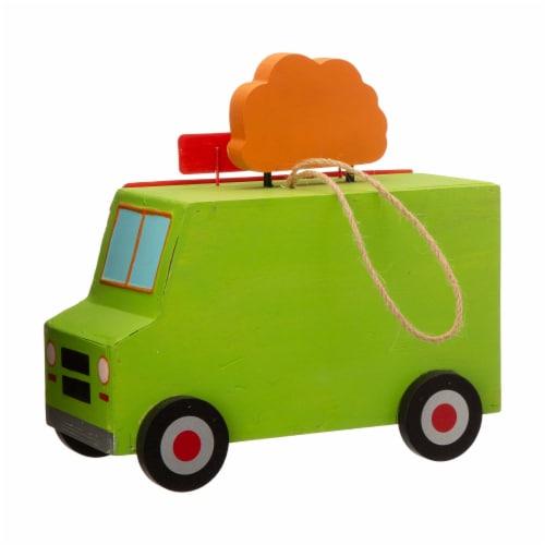 Glitzhome Wooden Mexico Taco Truck Decorative Birdhouse Perspective: back