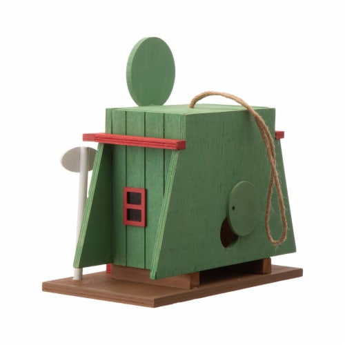 Glitzhome Wooden Truck-Stop Decorative Birdhouse Perspective: back