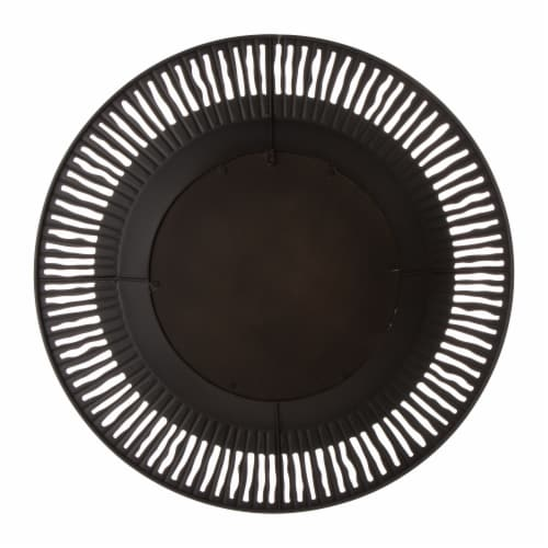 Glitzhome Vintage Industrial Metal Round Classic Wall Mirror Perspective: back