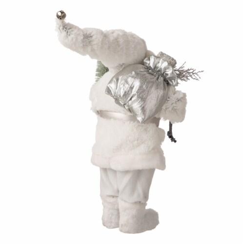 Glitzhome Snowflake Santa Figurine Decoration Perspective: back