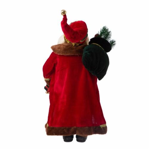 Glitzhome Christmas Santa Figurine - Red Perspective: back