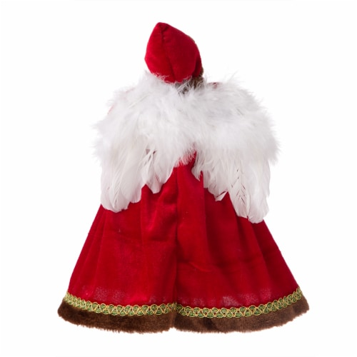 Glitzhome Christmas Angel Tree Topper - Red Perspective: back