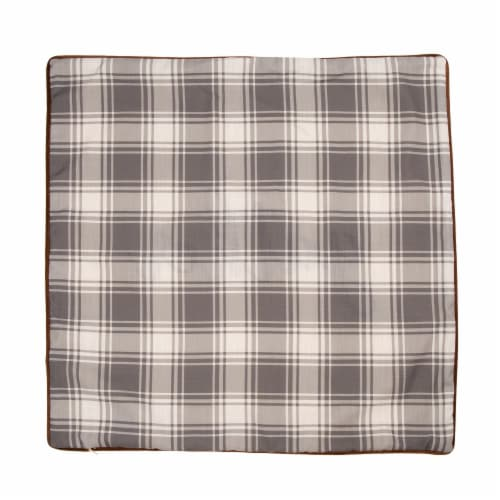 Glitzhome Velvet Gather Embroidered Pillow Cover Perspective: back