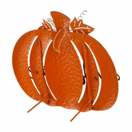 Glitzhome Metal Fall Pumpkin Yard Sign Perspective: back