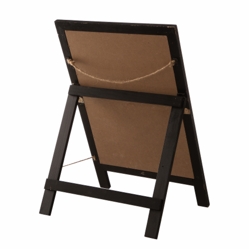 Glitzhome Hocus Pocus Wooden Standing Easel Perspective: back