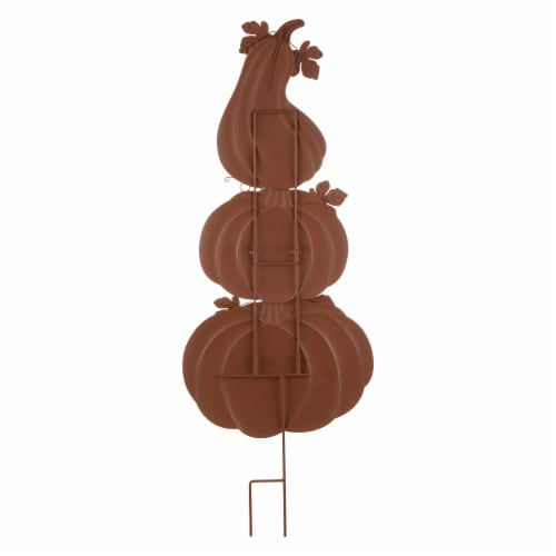 Glitzhome Metal 3-in-1 Pumpkin Yard Decoration Perspective: back