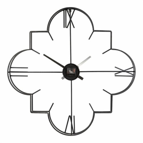 Glitzhome Oversized Modern Metal Wall Clock - Golden/Black Perspective: back