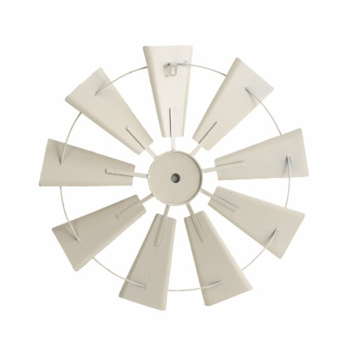 Glitzhome Metal Wind Spinner Wall Decor - Beige Perspective: back