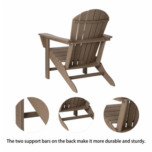 Glitzhome Adirondack Chair - Tan Perspective: back