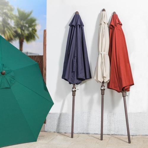 Aluminium Selt Tilt Patio Umbrella - Dark Green Perspective: back