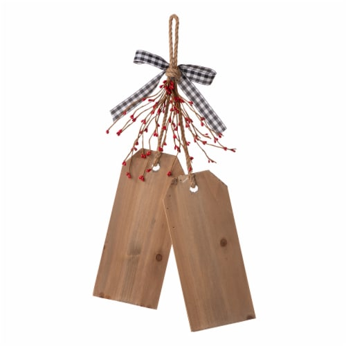 Glitzhome Valentine's Day Door Hanging Decor - Red/White Perspective: back