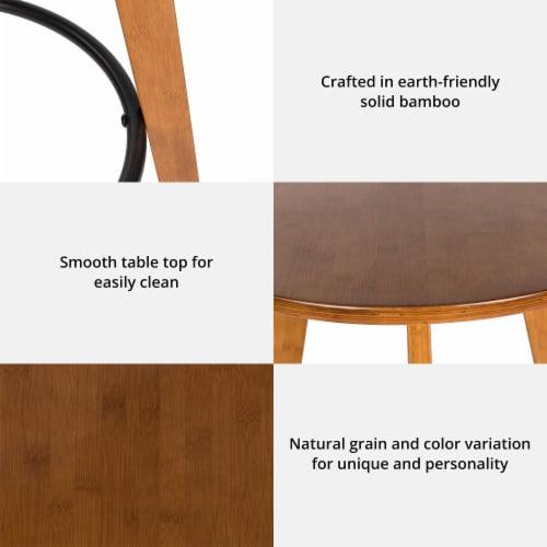 Glitzhome Bamboo Pub Table and Bar Stools Set Perspective: back