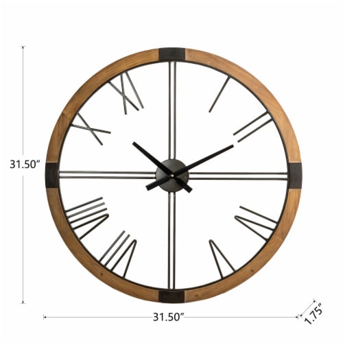 Glitzhome Oversized modern Farmhouse Wall Clock Perspective: back