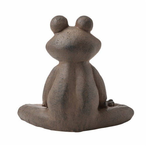 Glitzhome Frog with Yoga Pose Decorative Statue Perspective: back