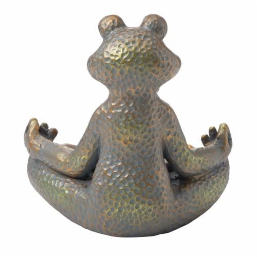 Glitzhome Yoga Frog Stature - Bronze Perspective: back
