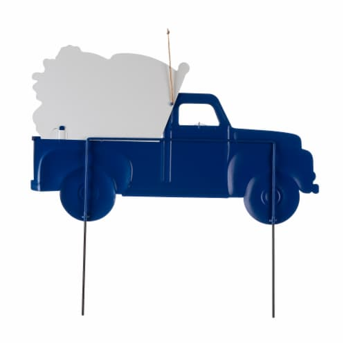 Glitzhome Americana Metal Truck Yard Stake/Wall Sign Perspective: back