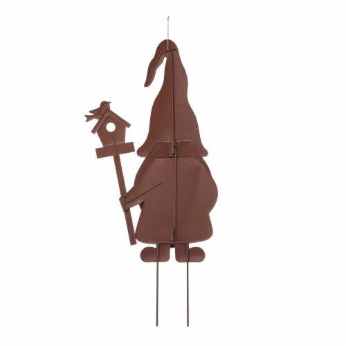 Glitzhome Metal Gnome Yard Decor - 3 Pack Perspective: back