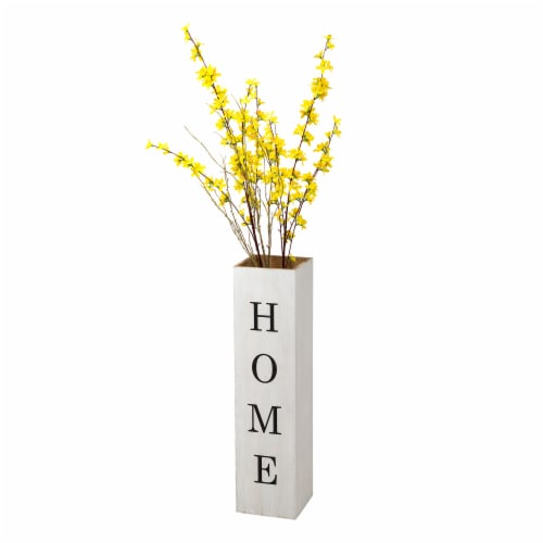 """Glitzhome Double Sided Wooden Boxed """"WELCOME HOME"""" Porch Sign Perspective: back"""