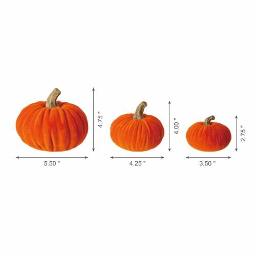 Glitzhome Orange Resin Pumpkins Decor Perspective: back