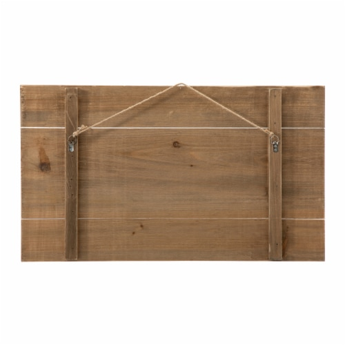 Glitzhome Fall Wooden Pumpkin Patch Wall Sign Perspective: back