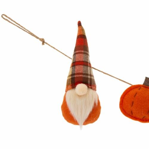 Glitzhome Fall Gnome Garland Perspective: back