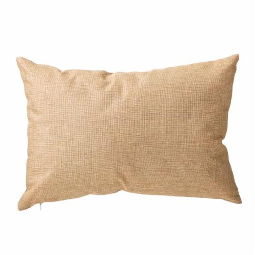 Glitzhome Faux Burlap Fall Pumpkin Pillow Perspective: back