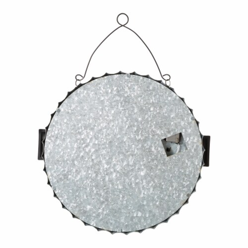Glitzhome Lighted Halloween Metal Bottle Cap Wall Sign Perspective: back