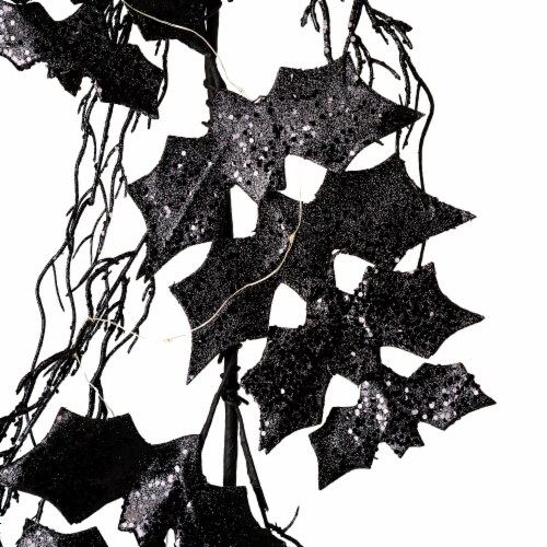 Glitzhome Lighted Halloween Bat Garland Perspective: back