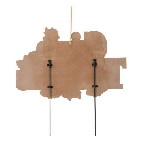 Glitzhome Give Thanks Wooden Yard Stake Decor Perspective: back