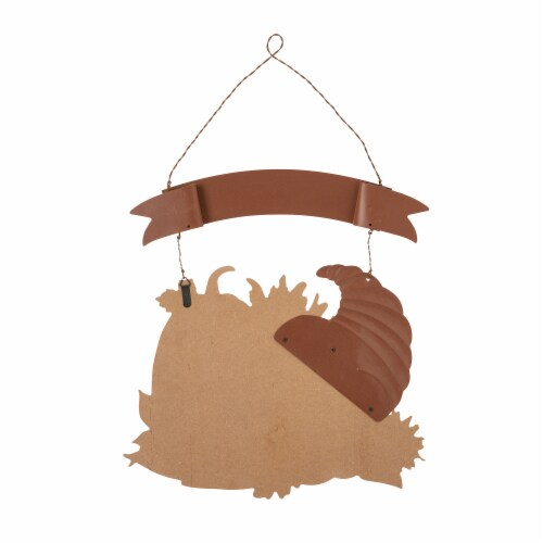 Glitzhome Give Thanks Croissant Wall Decor Perspective: back