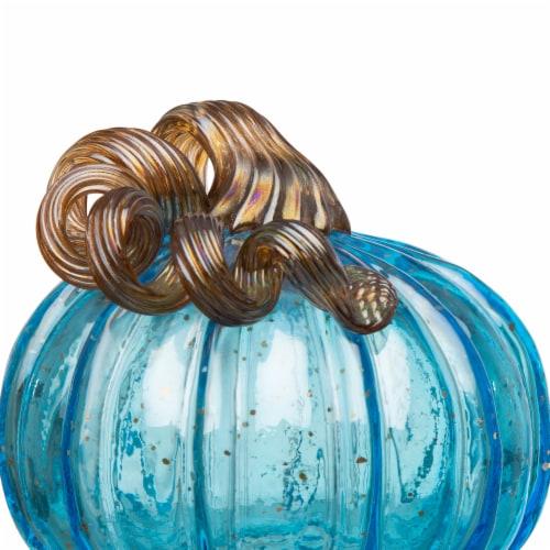 Glitzhome Blue Glass Pumpkins Perspective: back