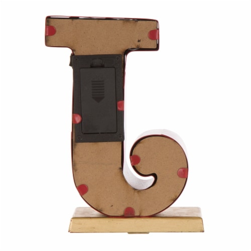 Glitzhome JOY Christmas Stocking Holder Set Perspective: back