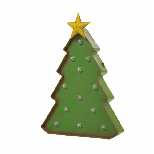 Glitzhome Metal Christmas Tree Marquee Decor Perspective: back
