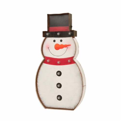 Glitzhome Metal Snowman LED Marquee Christmas Decor Perspective: back