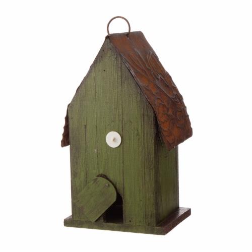 Glitzhome Rustic Garden Bird House Perspective: back